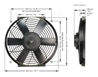 "Davies, Craig - 16"" THERMATIC® / ELECTRIC FAN (12V) - Image 2"